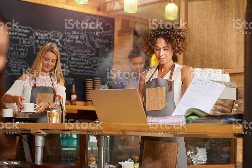 Coffee shop manager - foto de stock