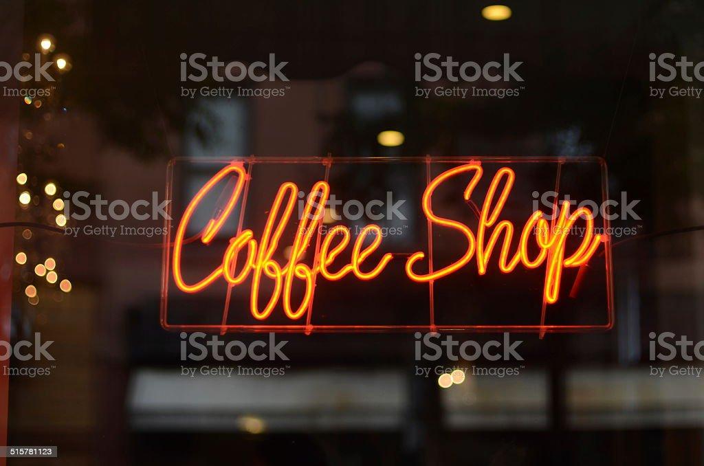 Coffee Shop Neon stock photo