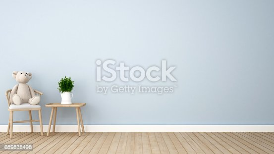 istock coffee shop or kid room blue tone 659838498
