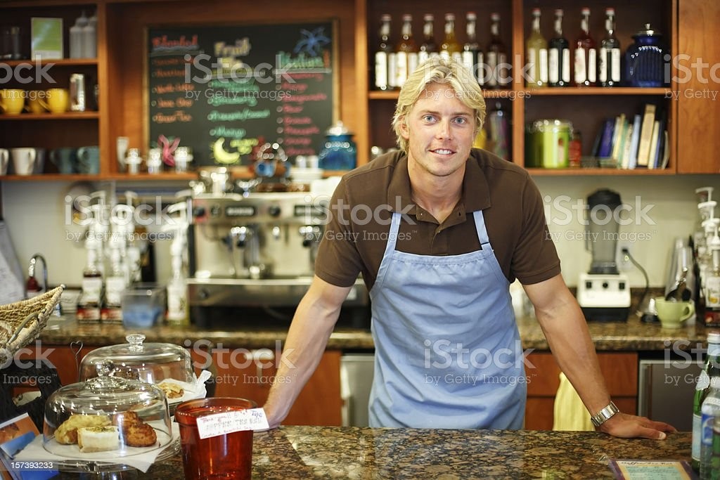 Coffee Shop Owner royalty-free stock photo