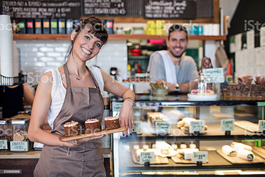 Coffee Shop Owners stock photo