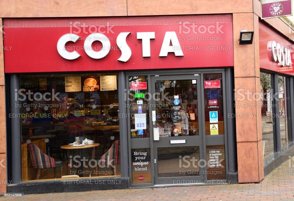 COSTA Coffee Shop stock photo
