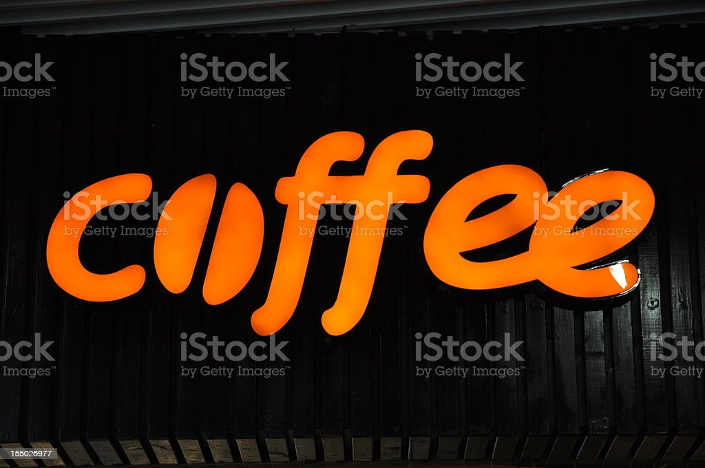 Coffee shop sign royalty-free stock photo