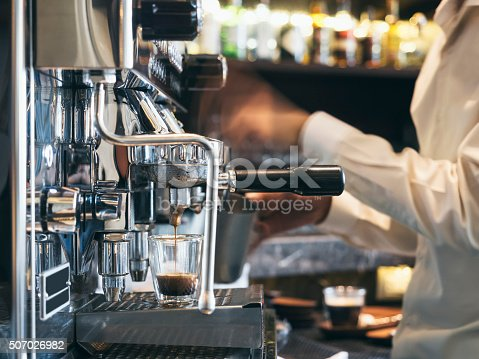 istock Coffee shop with Barista in Restaurant cafe 507026982