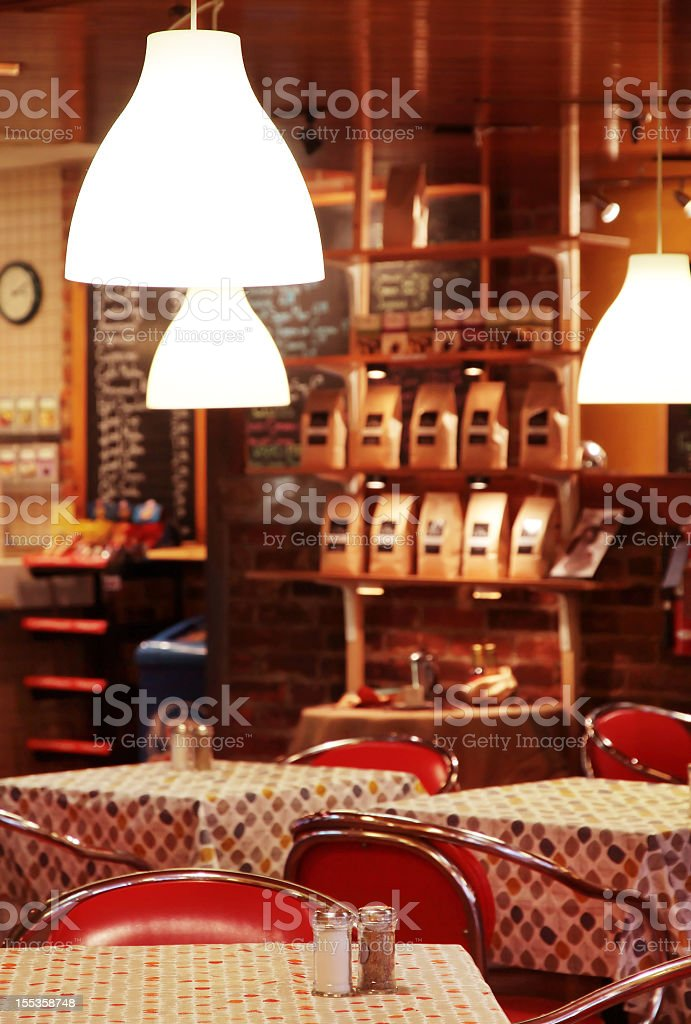 Coffee Shop with tables royalty-free stock photo