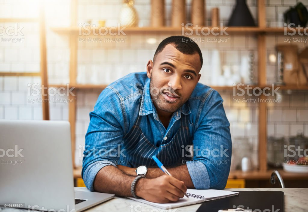 Coffee shops have paperwork too stock photo