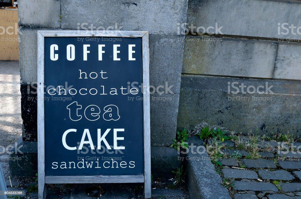 Kaffee-Schild – Foto