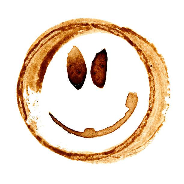 Coffee smile face stock photo
