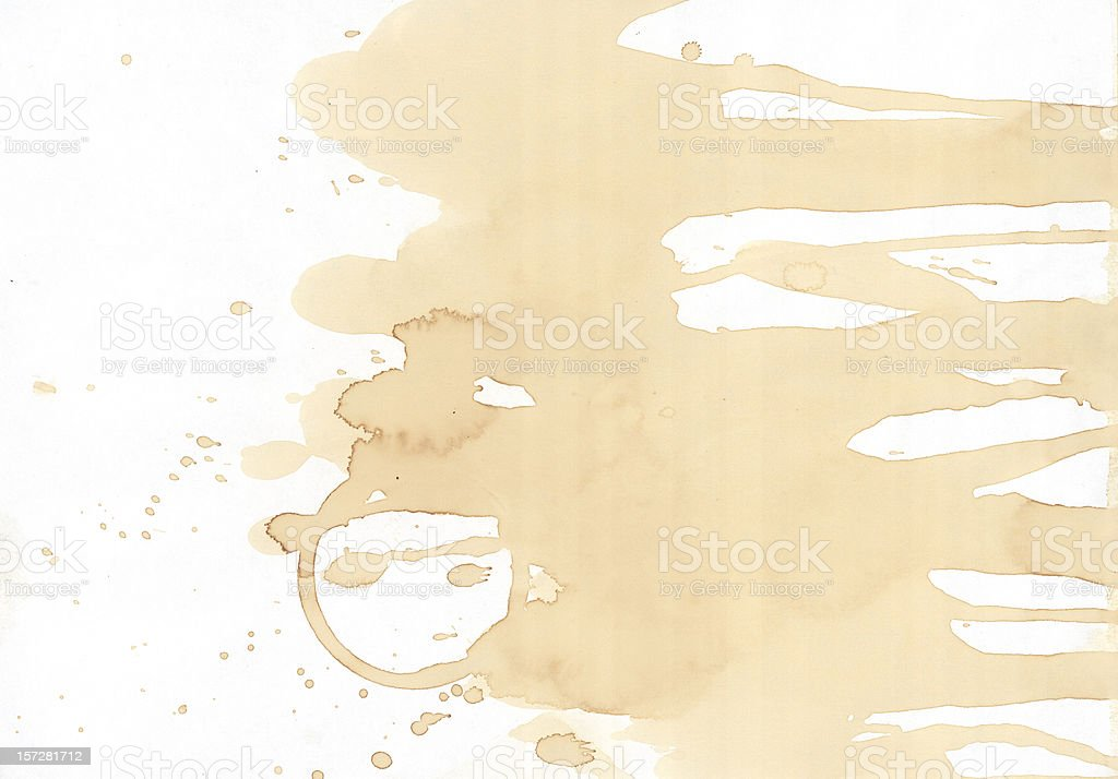 coffee smudge grunge paper 03 royalty-free stock photo