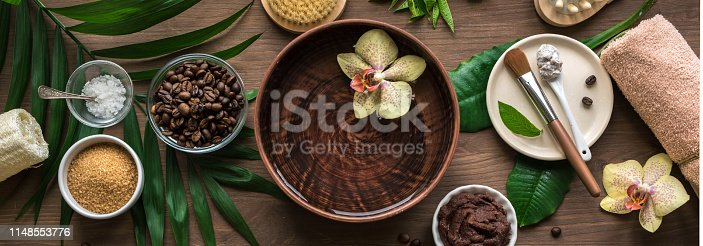 istock Coffee Spa composition 1148553776