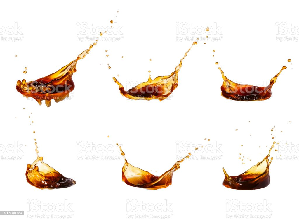 coffee splash collection stock photo