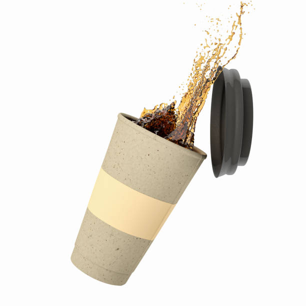 Coffee Splash Disposable cup with coffee splash spilling stock pictures, royalty-free photos & images
