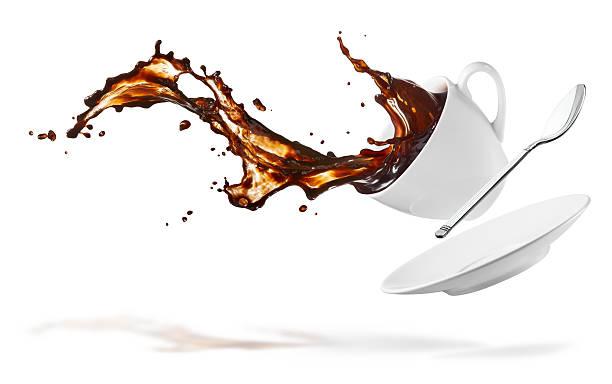 コーヒー「スプラッシュ」 - spilled ストックフォトと画像