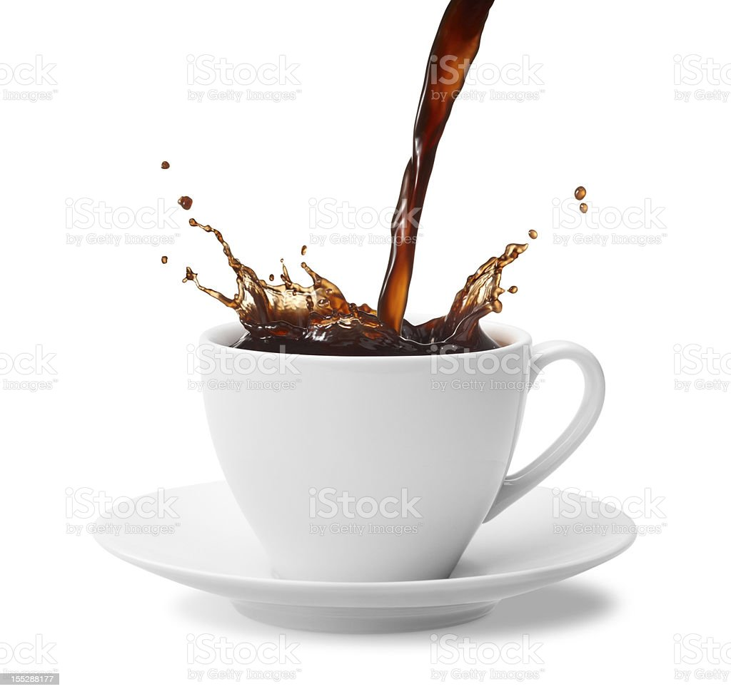 coffee splash royalty-free stock photo