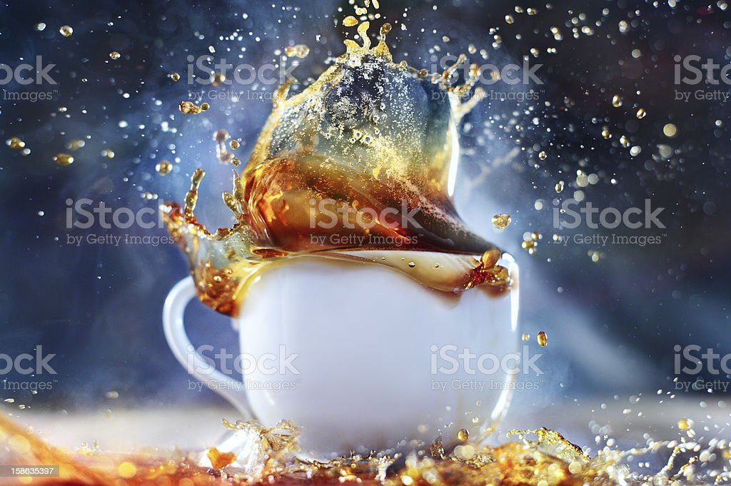 Coffee (tea) splash stock photo