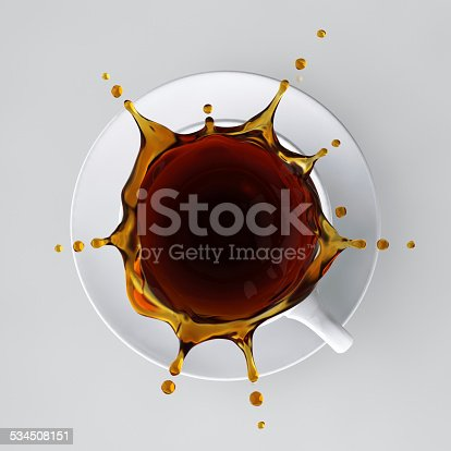 Coffee background include clipping path. 3D render.