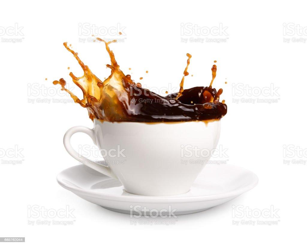 Coffee splashing zbiór zdjęć royalty-free