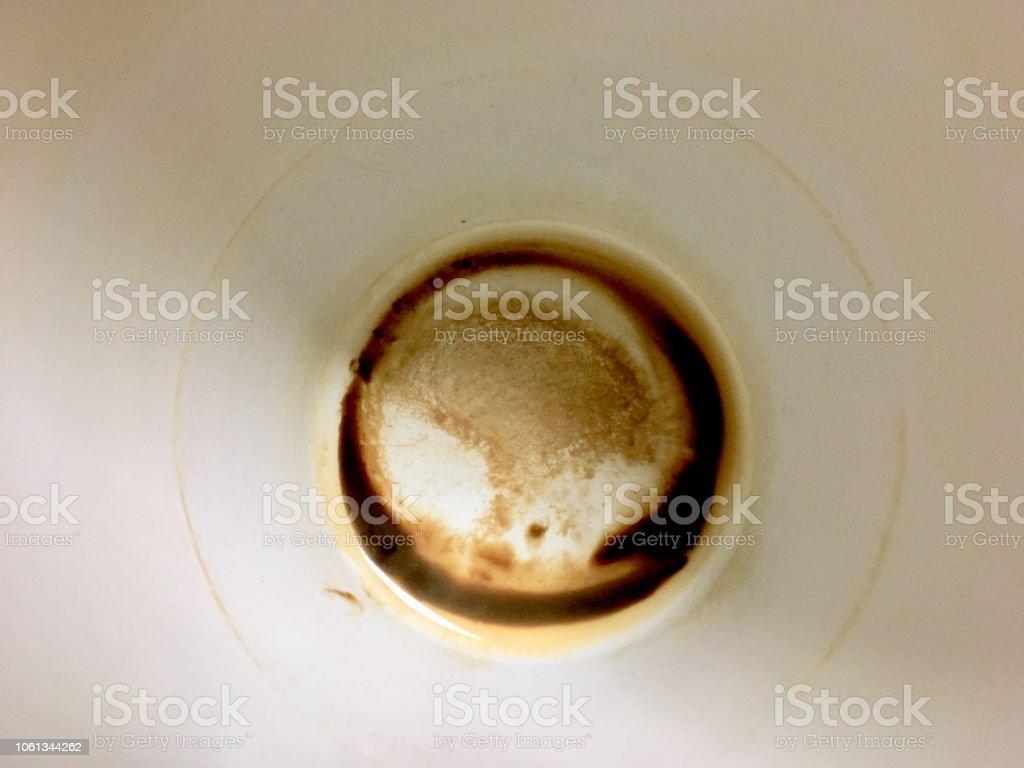 カップの底にコーヒーの染み からっぽのストックフォトや画像を多数