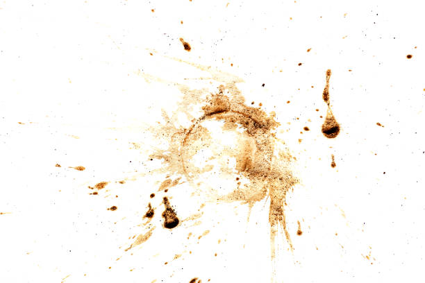 coffee stain isolated on white stock photo