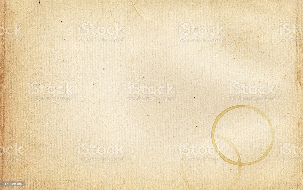 Coffee Stain Paper XXL stock photo
