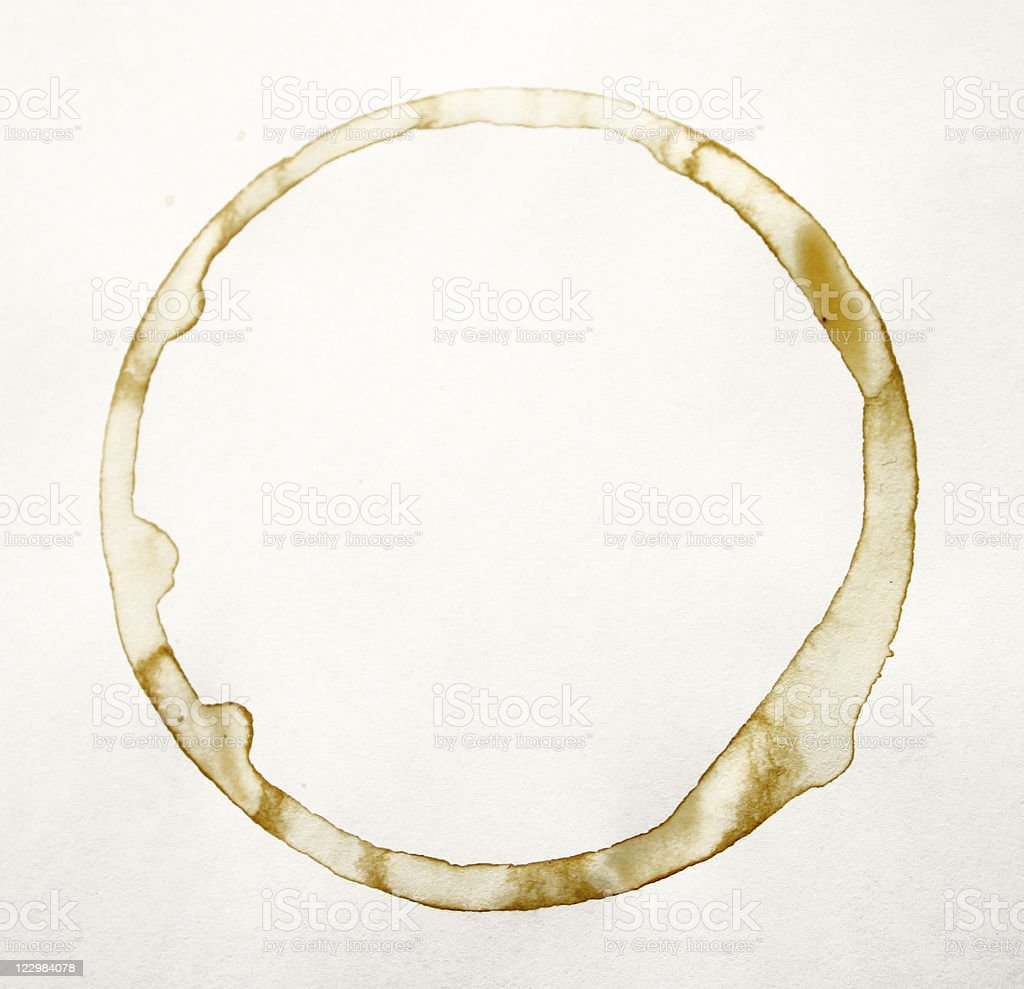 Coffee stain  Brown Stock Photo