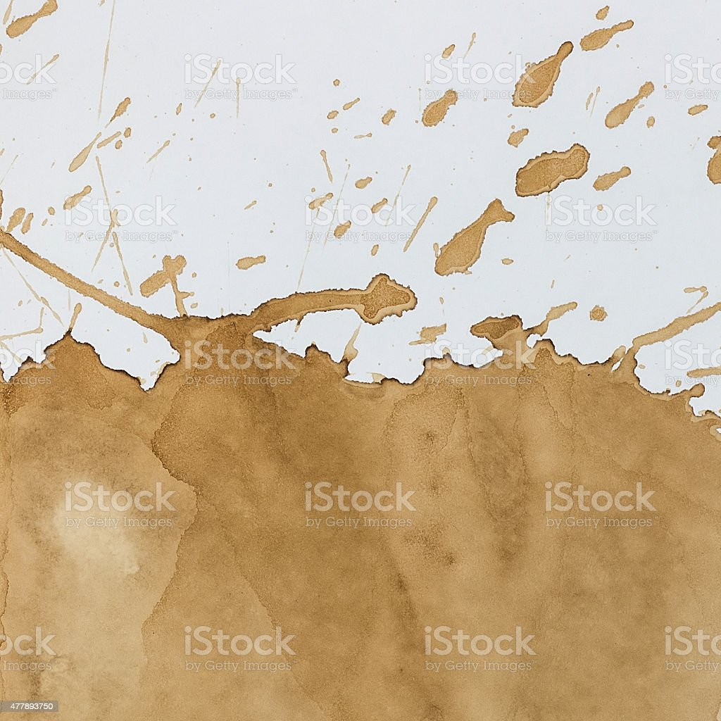 Coffee stain stock photo