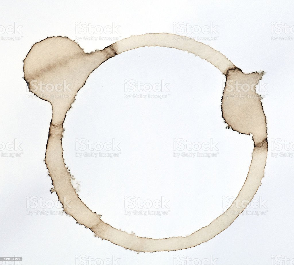coffee stain royalty-free stock photo