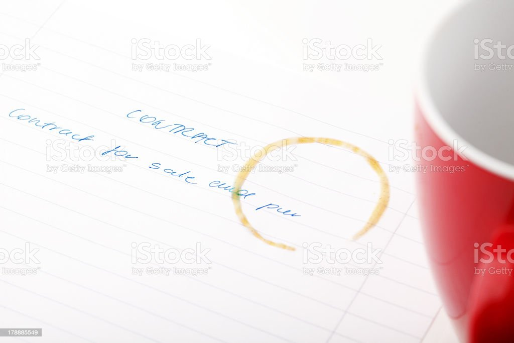 Coffee Stained Paper royalty-free stock photo