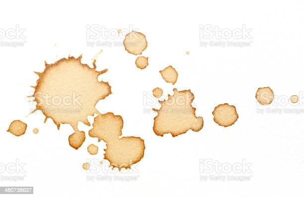 Coffee stains on white paper