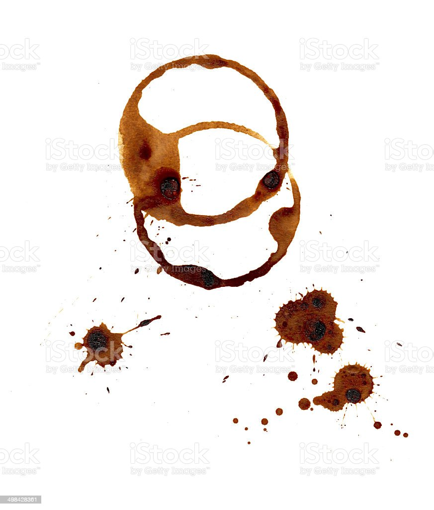 Coffee stains. royalty-free stock photo