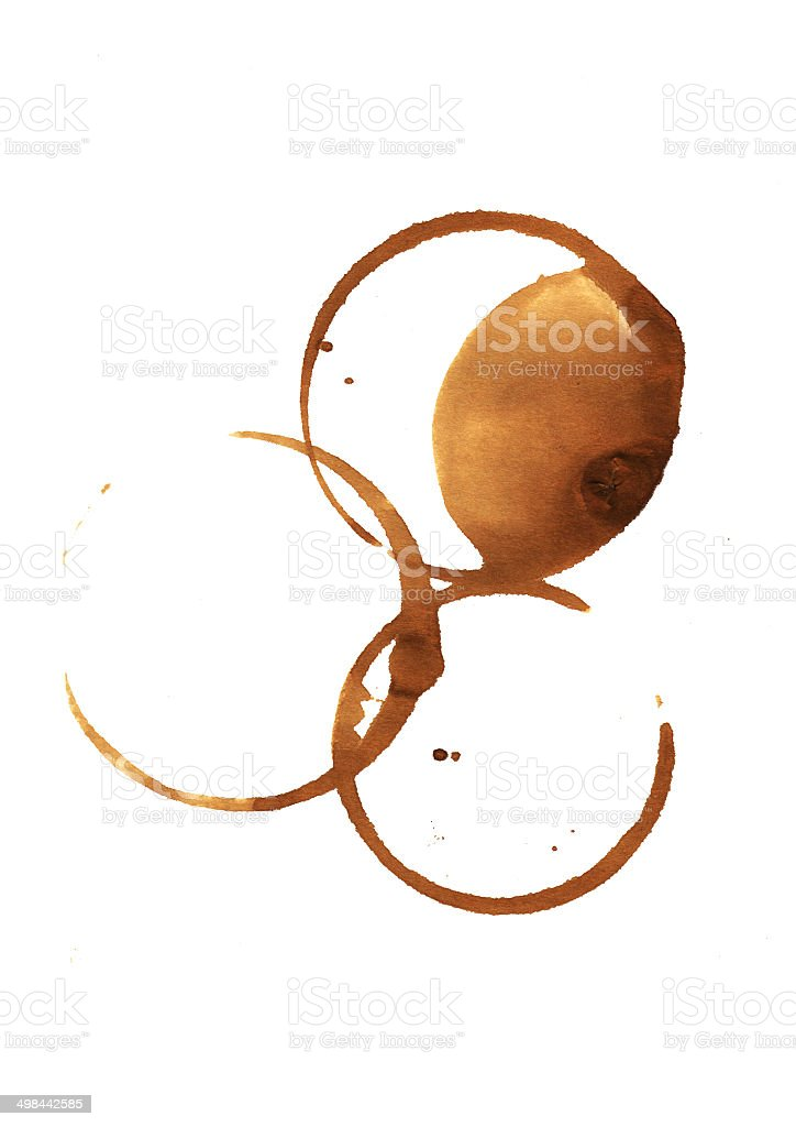 Coffee stains. stock photo