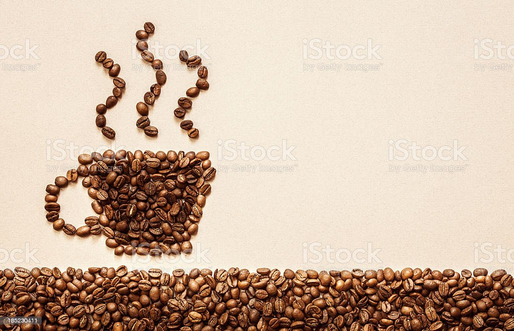 Coffee symbol royalty-free stock photo