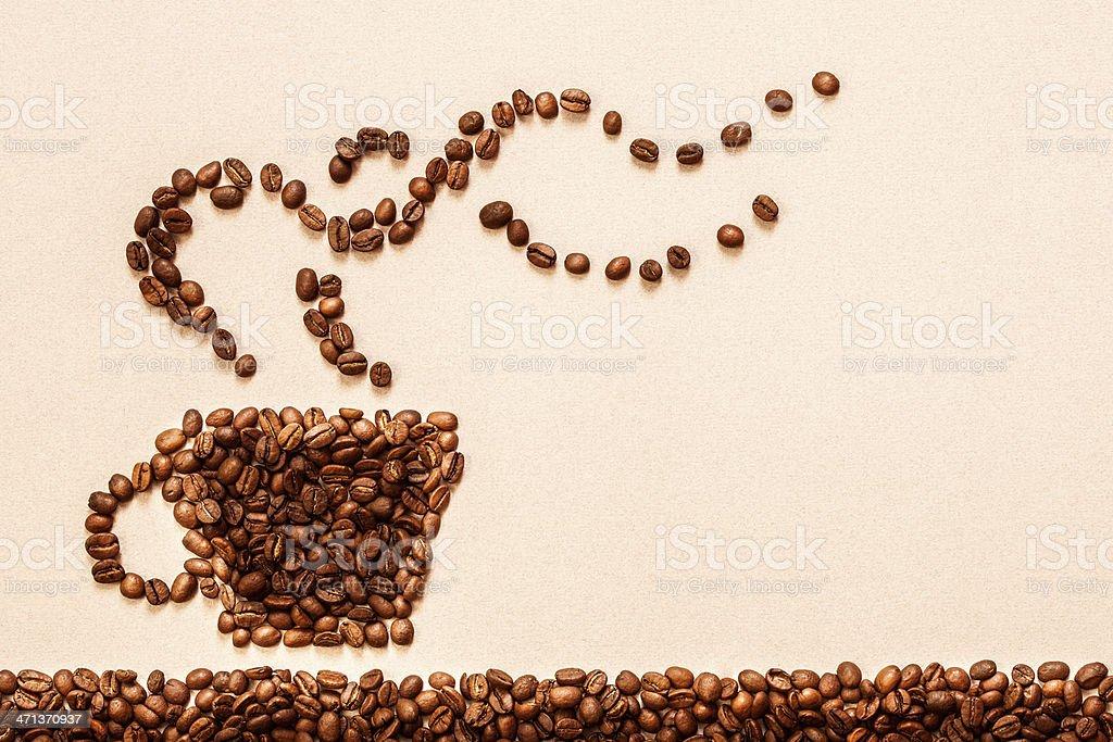 Coffee symbol stock photo
