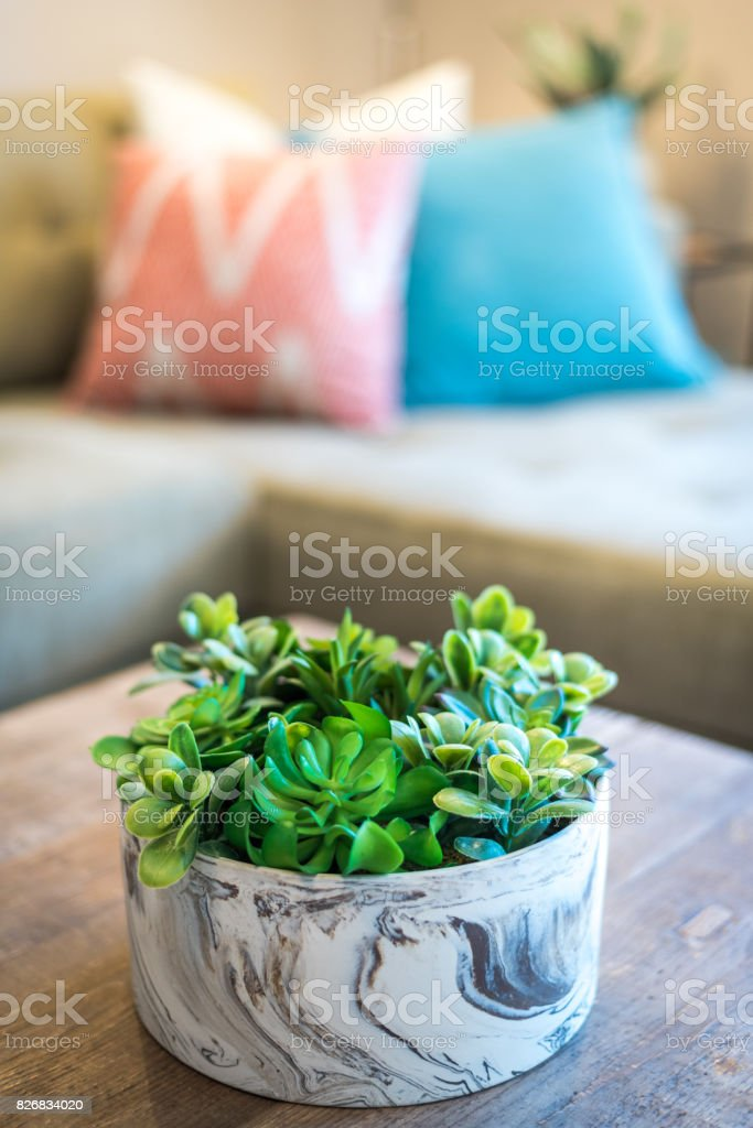 Coffee Table Decoration stock photo
