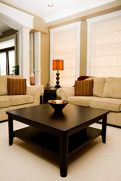 Coffee Table in Family Room of New Home