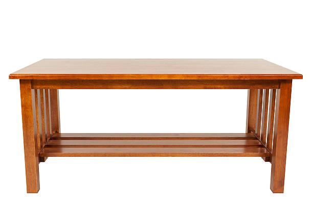 mesa de café isolado - coffee table imagens e fotografias de stock