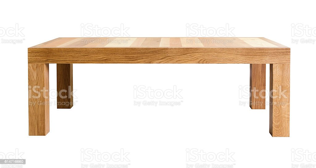 Coffee table with top made of different kinds of wood - foto de stock
