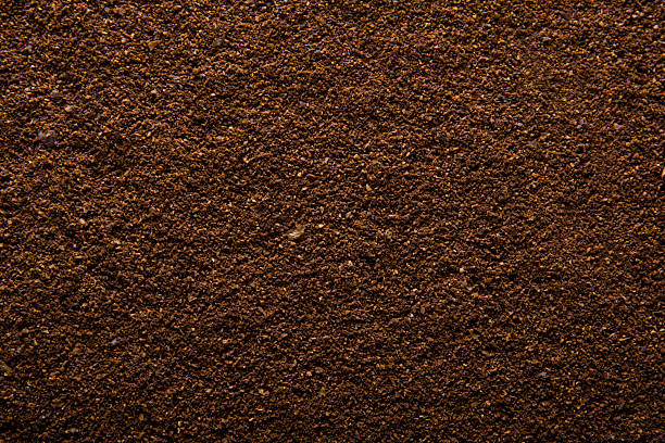 kaffee, strukturierte - kaffeepulver stock-fotos und bilder