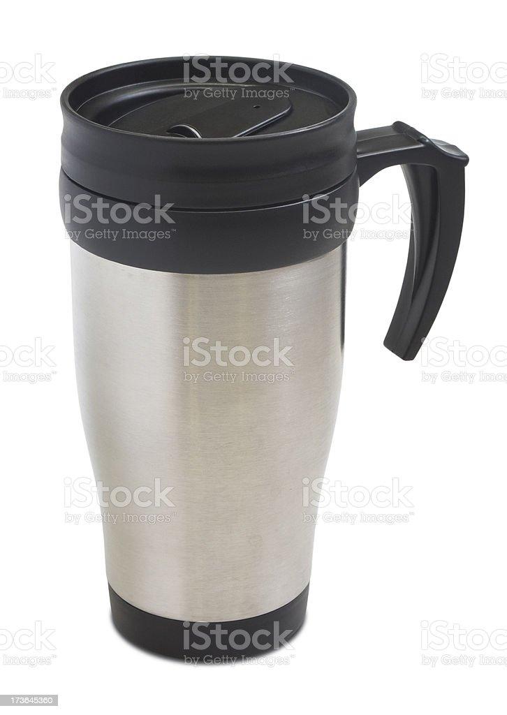 Coffee thermos mug royalty-free stock photo