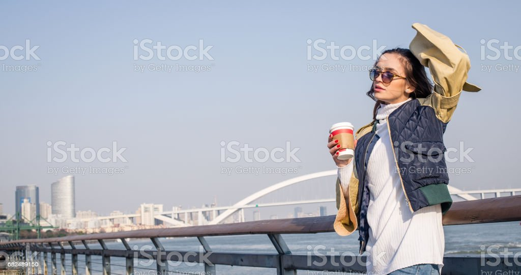 Coffee time by the river royalty-free stock photo