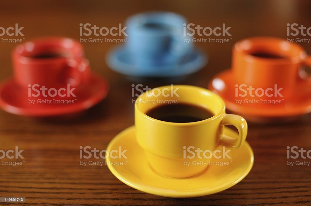Coffee Time for Four royalty-free stock photo