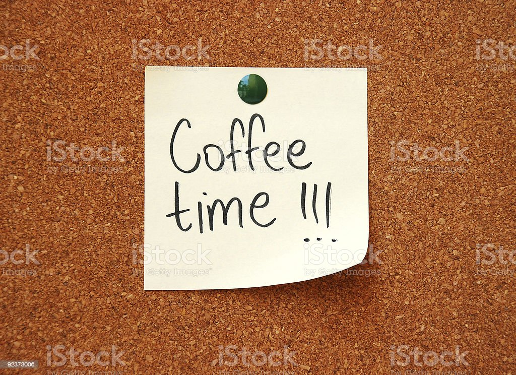 coffee time message royalty-free stock photo