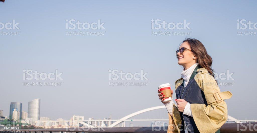 Kaffee-Zeit auf einen schönen Tag Lizenzfreies stock-foto
