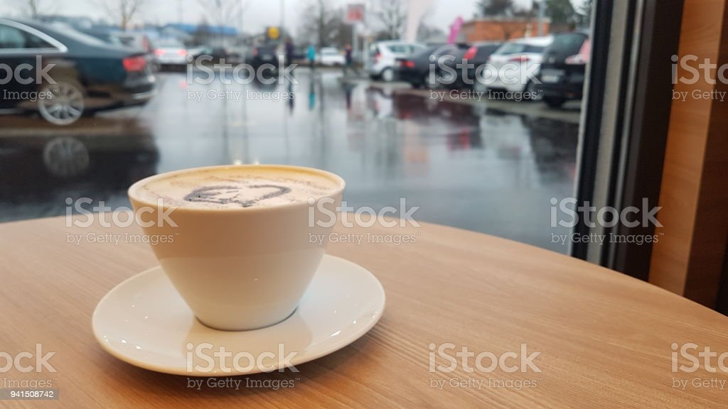 A coffee timeout stock photo