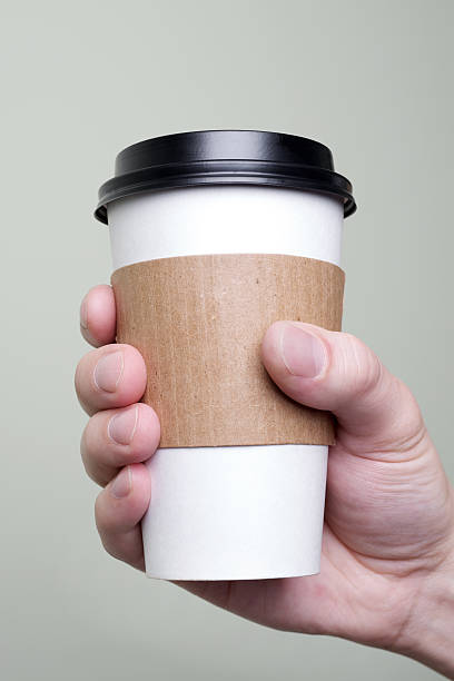 coffee to go - paper coffee cup stock photos and pictures