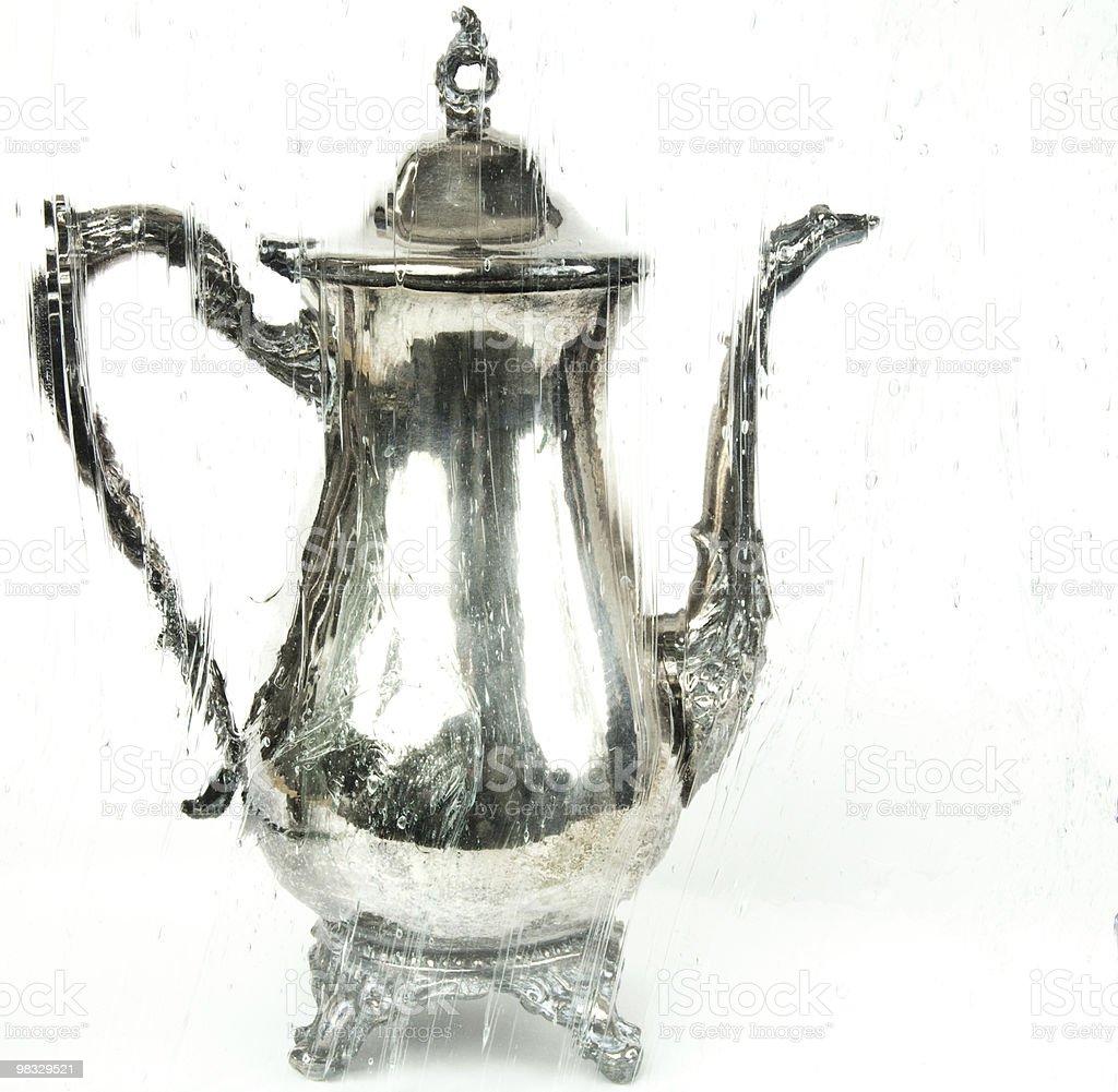Coffee Urn Through Artistic Glass royalty-free stock photo