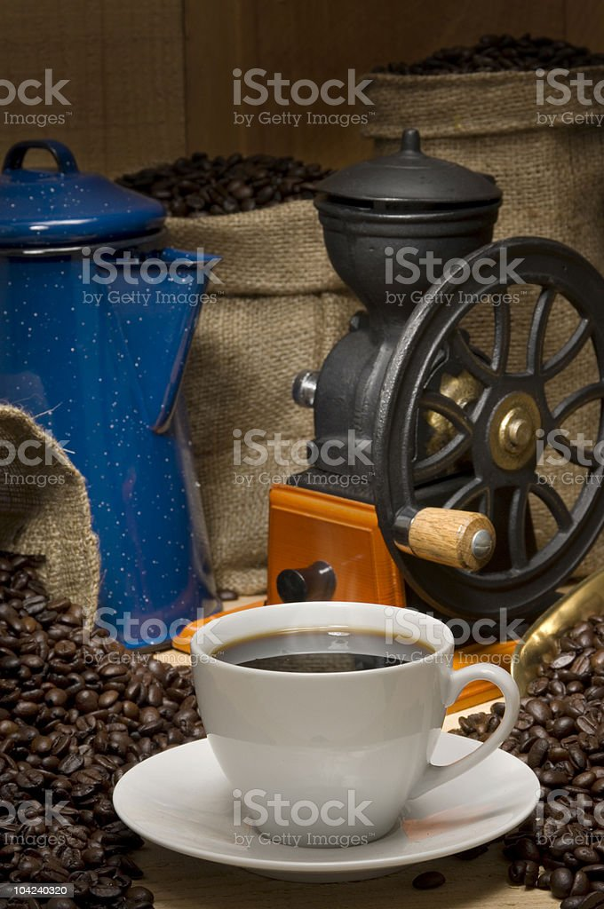 Coffee Vertical royalty-free stock photo