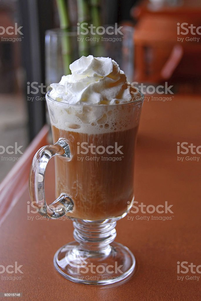 Coffee whipped cream royalty-free stock photo
