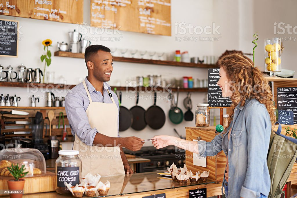 Coffee with a splash of convenience stock photo