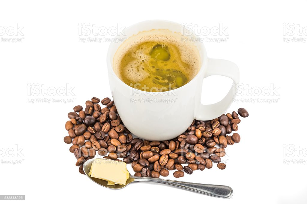 Coffee with added Butter stock photo